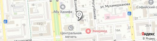 Духовное Управление мусульман Казахстана в г. Алматы на карте Алматы