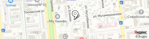 ISBN на карте Алматы