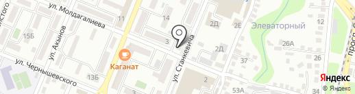 Магазин лакокрасочных материалов на карте Алматы