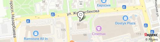 Генеральное консульство Соединенных Штатов Америки в г. Алматы на карте Алматы