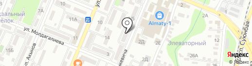 Голд-Карат ломбард, ТОО на карте Алматы