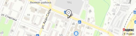 Борхан на карте Алматы