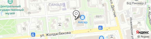 Нотариус Манабаева А.С. на карте Алматы