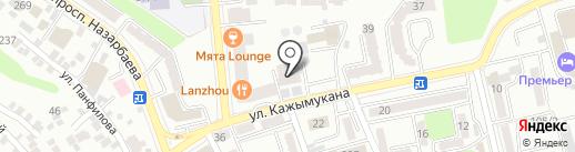 Кэш-Ю на карте Алматы