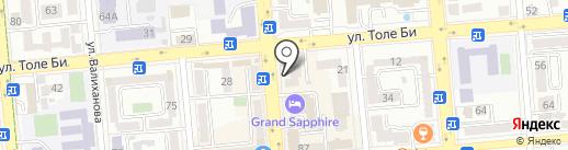 Шеберхана на карте Алматы