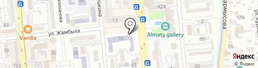 Гимназия №35 на карте Алматы