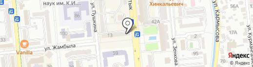 Еврочистка на карте Алматы
