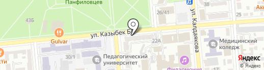 1001 ТУР на карте Алматы