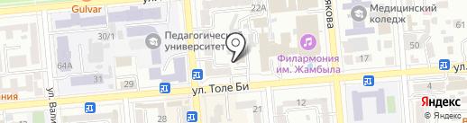 Альп Гулi на карте Алматы