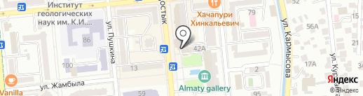 Поедем Алматы на карте Алматы