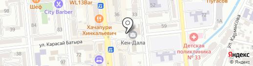 ING Bank на карте Алматы