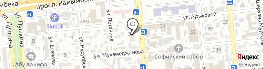 Глобус+Е на карте Алматы