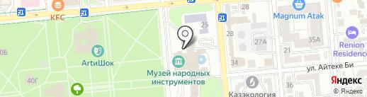 Территория Соединенных Баров на карте Алматы