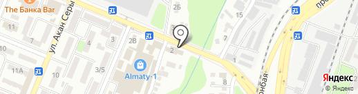 Назик на карте Алматы