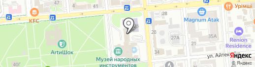 Энки на карте Алматы