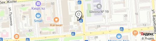Казаэропроект на карте Алматы