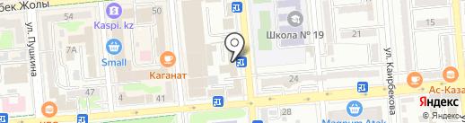 Орлеу на карте Алматы