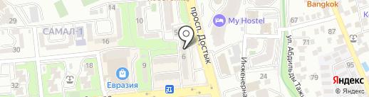 Папай на карте Алматы