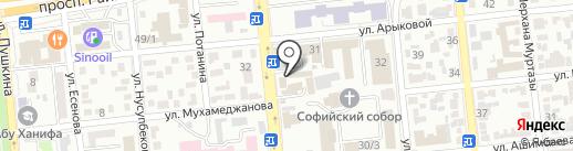 ОНОН на карте Алматы