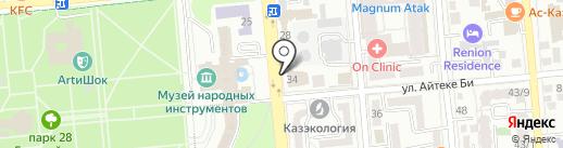 Мерген на карте Алматы