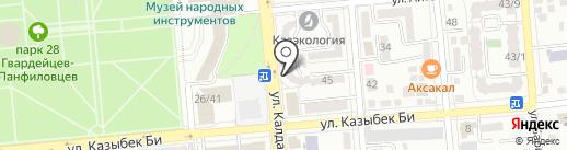 Нотариус Муканова Ш.Т. на карте Алматы