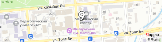 Ак Сеним на карте Алматы
