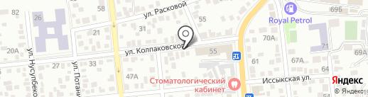 Алматинская ювелирная фабрика, ТОО на карте Алматы