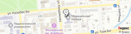Республиканский колледж по подготовке и переподготовке средних медицинских и фармацевтических работников на карте Алматы