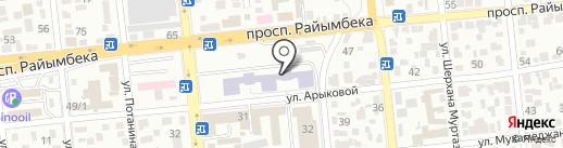 Клиника внутренних болезней на карте Алматы