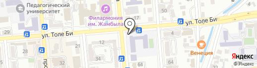 Общеобразовательная школа №168 на карте Алматы