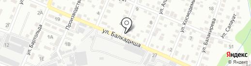 Еркебулан на карте Алматы