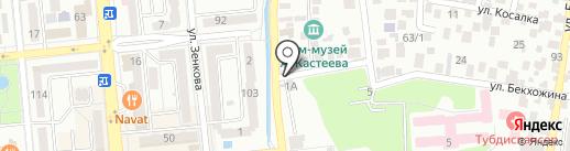 На городской на карте Алматы