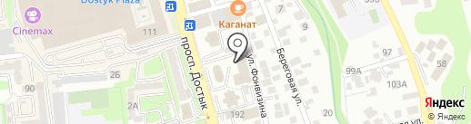 Коктем-2 на карте Алматы