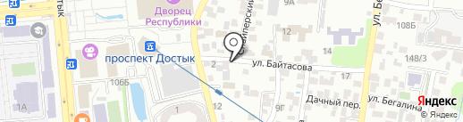 Китай на карте Алматы