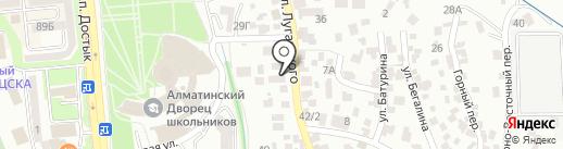 Росток на карте Алматы