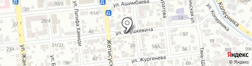 Продукты на карте Алматы