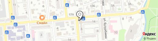 Бота на карте Алматы