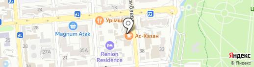 Ас-Казан на карте Алматы