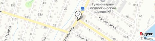 Почтовое отделение связи №56 на карте Алматы