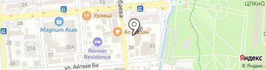 Генеральное консульство Республики Узбекистан на карте Алматы