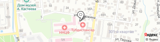 Городской противотуберкулезный диспансер Медеуского района на карте Алматы