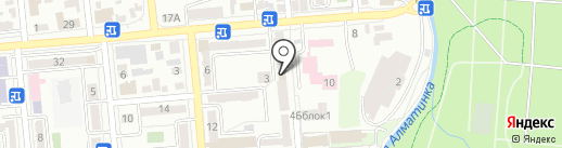 Аманат рехаб на карте Алматы