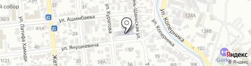 Гимназия №4 им. А.С. Пушкина на карте Алматы
