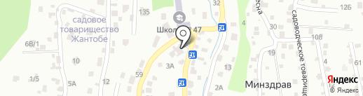 Медеу на карте Алматы