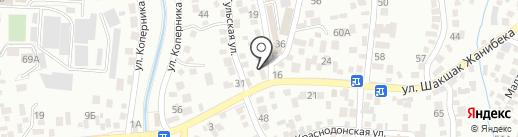 Геларис на карте Алматы