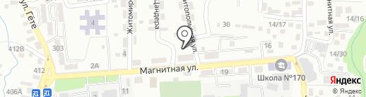 Кешен-К на карте Алматы