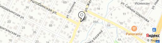 Колбасный магазин на карте Алматы