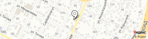 Алянур на карте Алматы