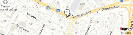 Кахарман на карте Алматы