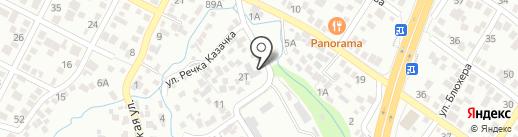 Сытый Папа на карте Алматы